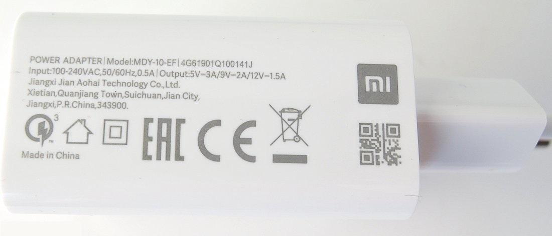 Xiaomi MDY-10-EF 3A USB Cestovní Nabíječka White (Bulk)