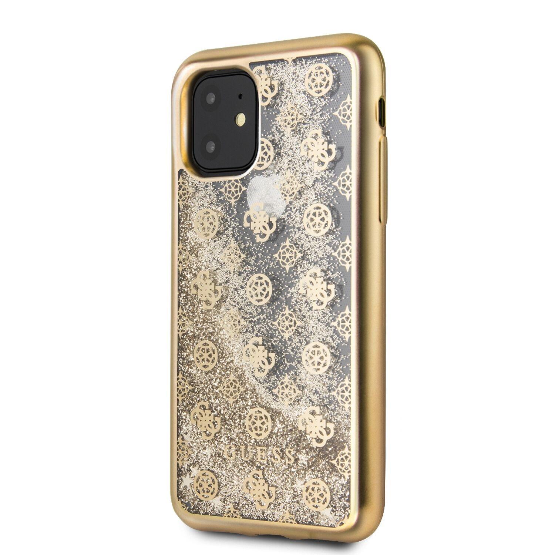 GUHCN65PEOLGG Guess 4G Peony Glitter Zadní Kryt pro iPhone 11 Pro Max Gold 3700740461143
