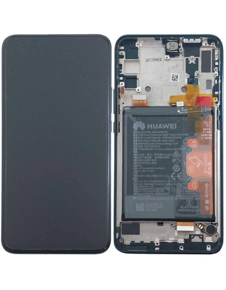 Huawei P Smart Z LCD Display + Dotyková Deska + Přední Kryt Green (Service Pack)