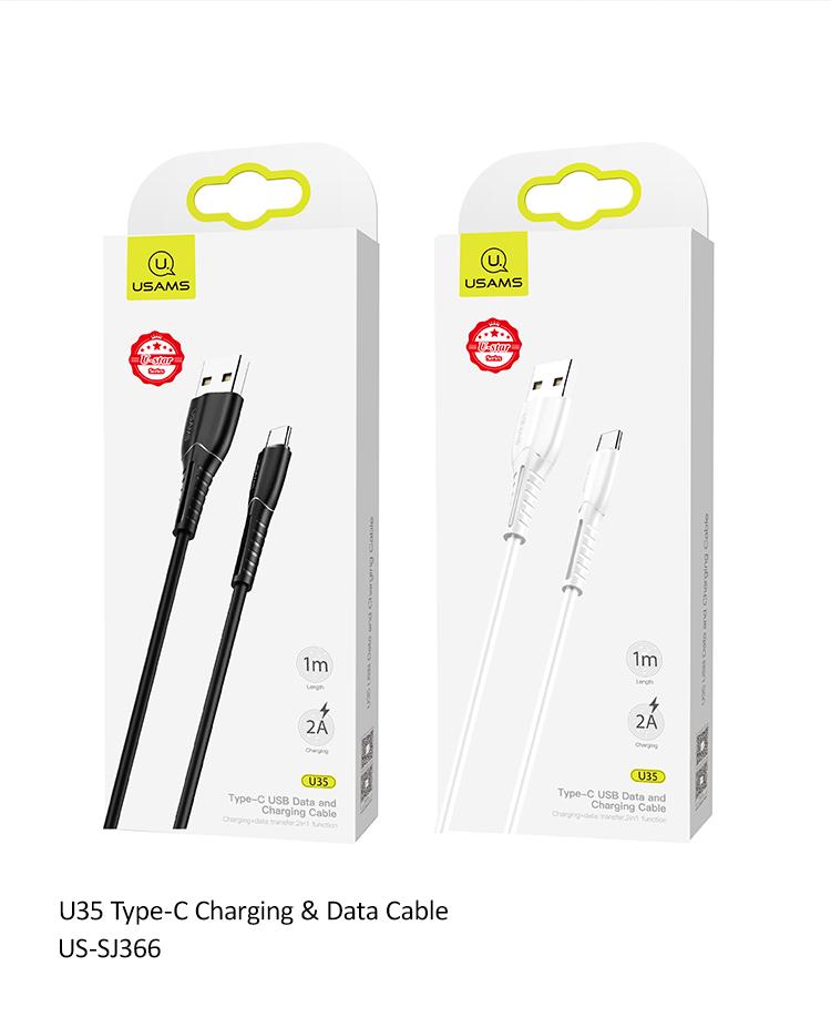 USAMS SJ366 U35 Datový Kabel Type C White