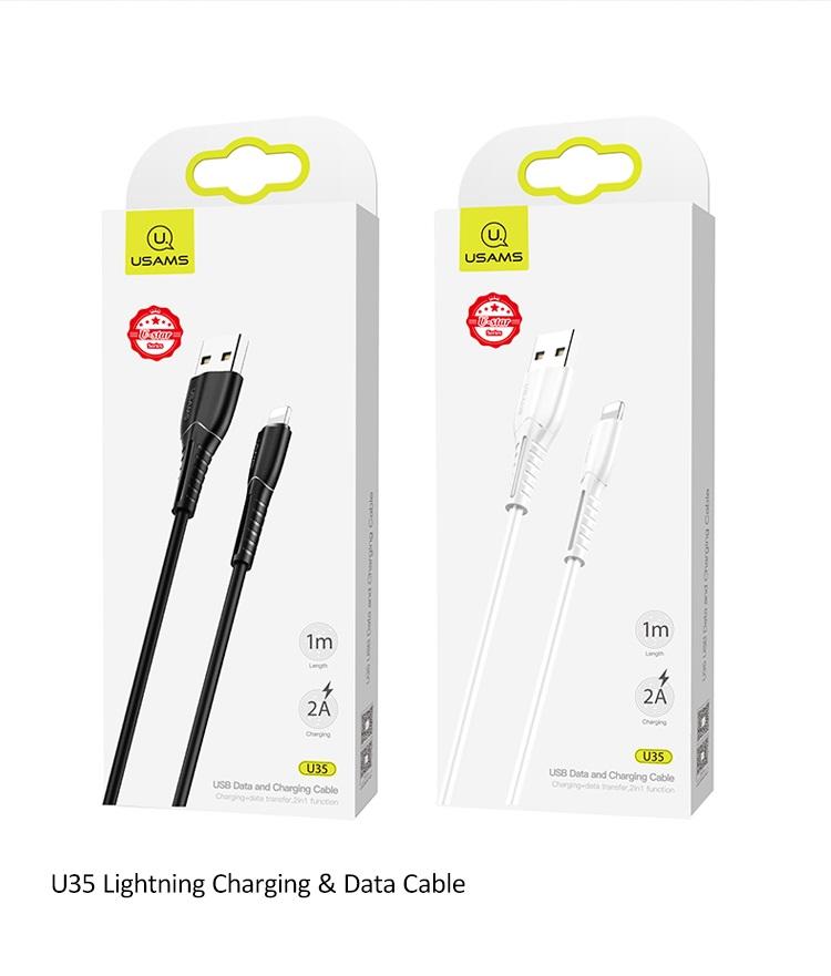 USAMS SJ364 U35 Datový Kabel Lightning Black