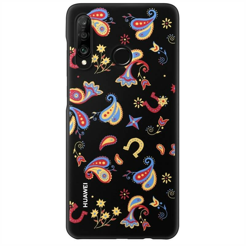Huawei Original TPU Protective Kryt pro Huawei P30 Lite Flower Black 6901443287871