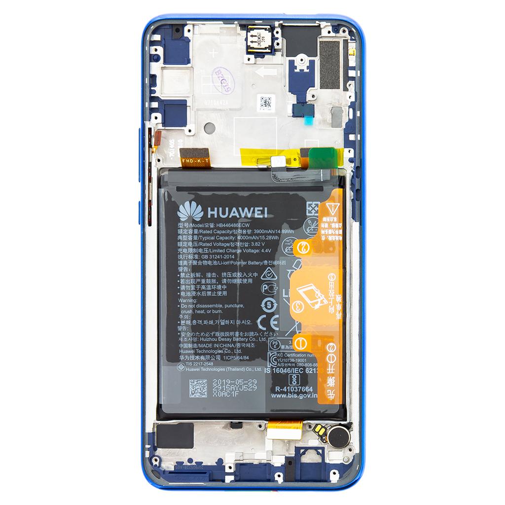 Huawei P Smart Z LCD Display + Dotyková Deska + Přední Kryt Blue (Service Pack)