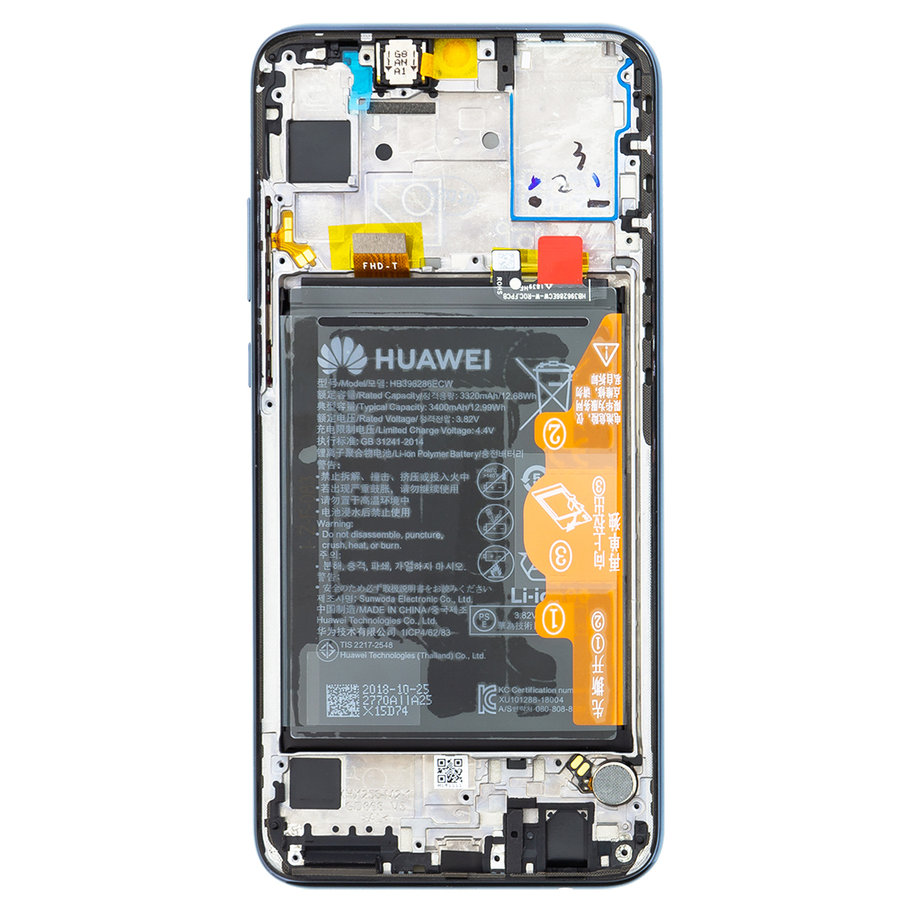 Honor 10 Lite LCD Display + Dotyková Deska + Přední Kryt Black (Service Pack)