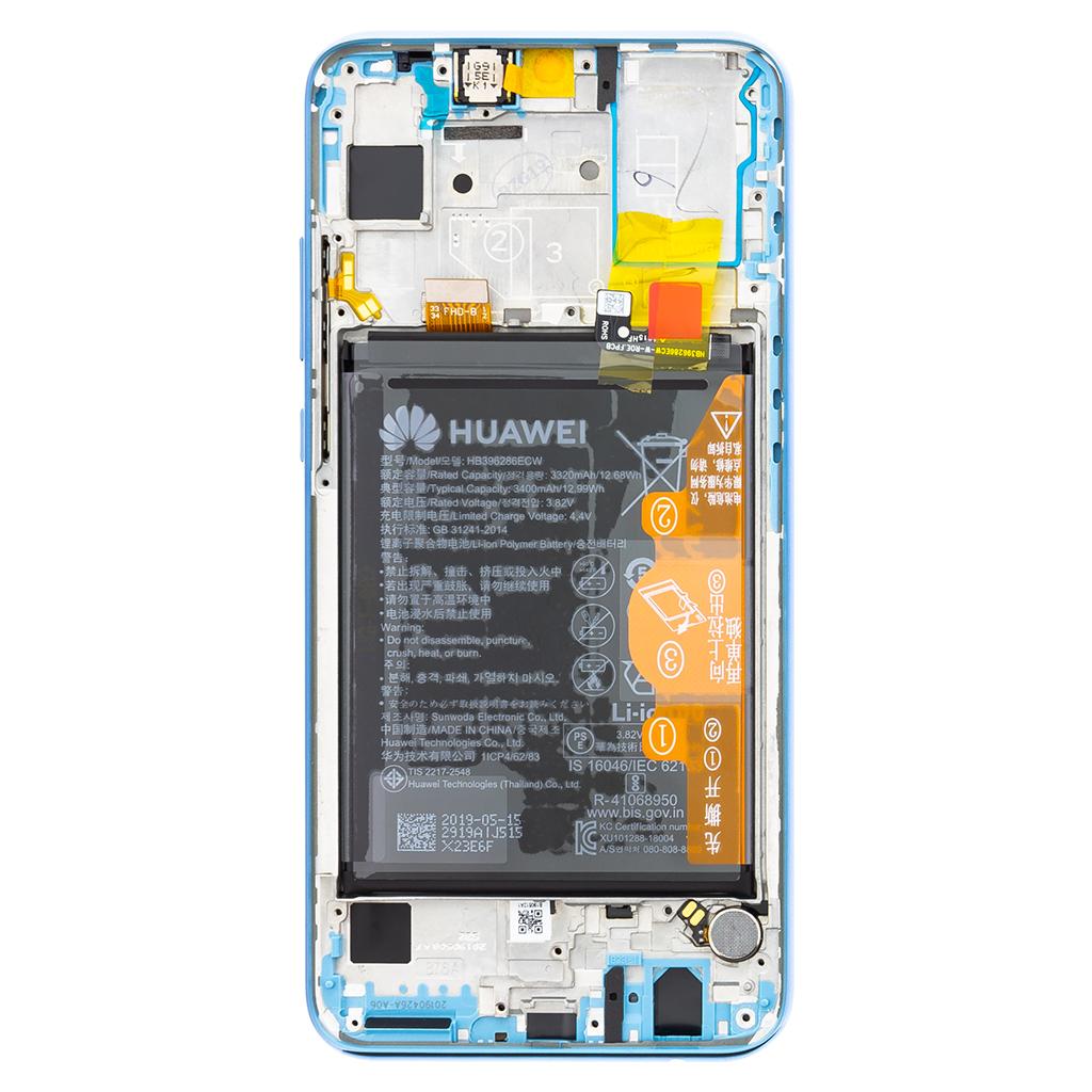 Honor 10 Lite LCD Display + Dotyková Deska + Přední Kryt Sapphire Blue (Service Pack)