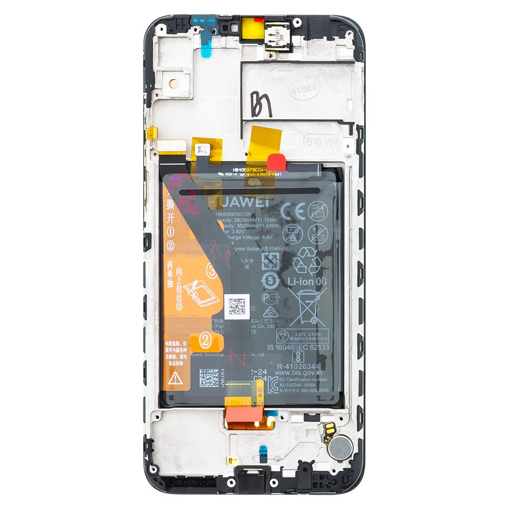 Honor 8A LCD Display + Dotyková Deska + Přední Kryt Black (Service Pack)