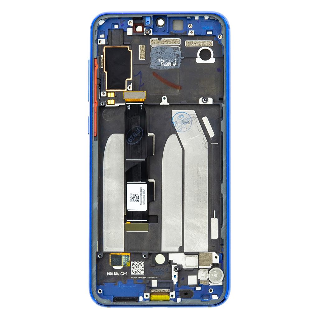 LCD Display + Dotyková Deska + Přední Kryt pro Xiaomi Mi9 SE Blue
