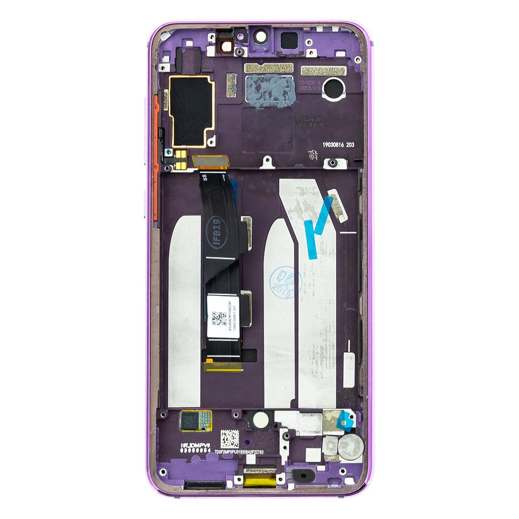LCD Display + Dotyková Deska + Přední Kryt pro Xiaomi Mi9 SE Purple
