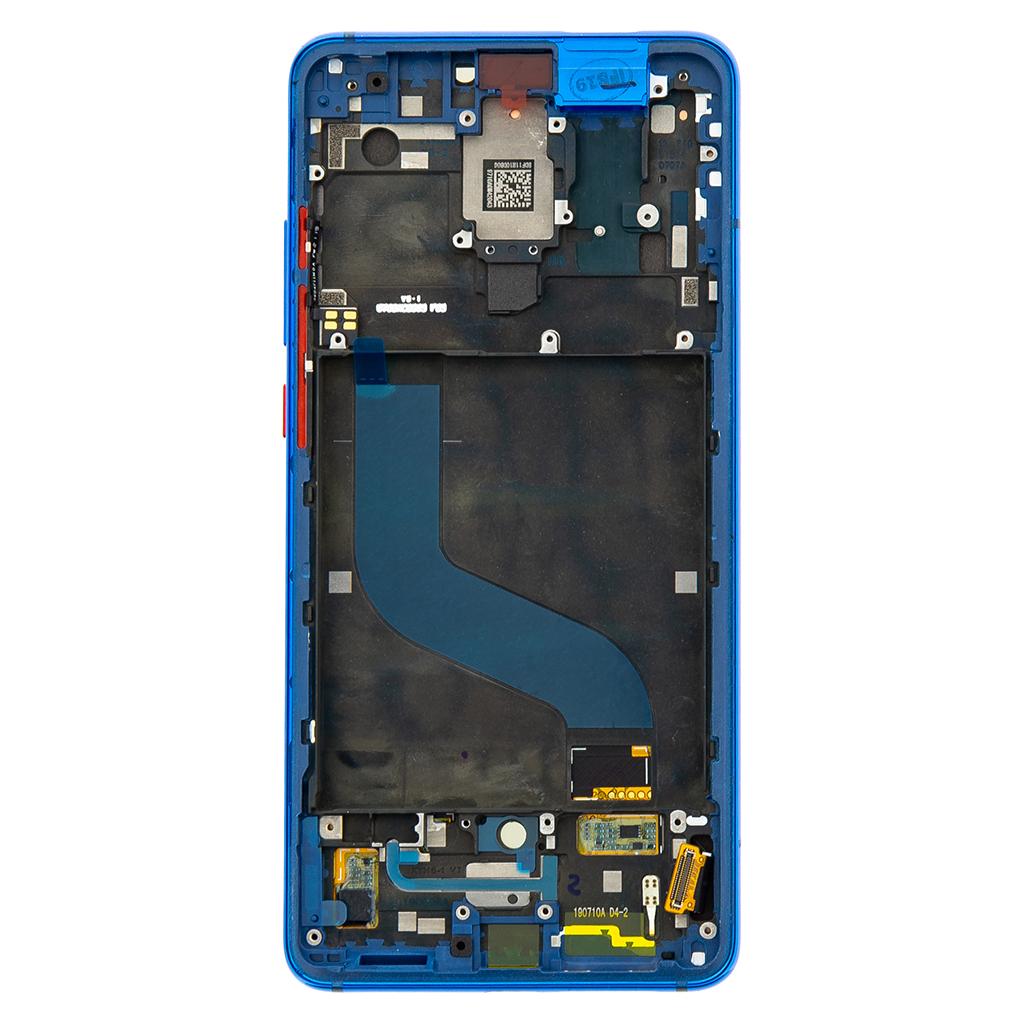 LCD Display + Dotyková Deska + Přední Kryt pro Xiaomi Mi9T Blue