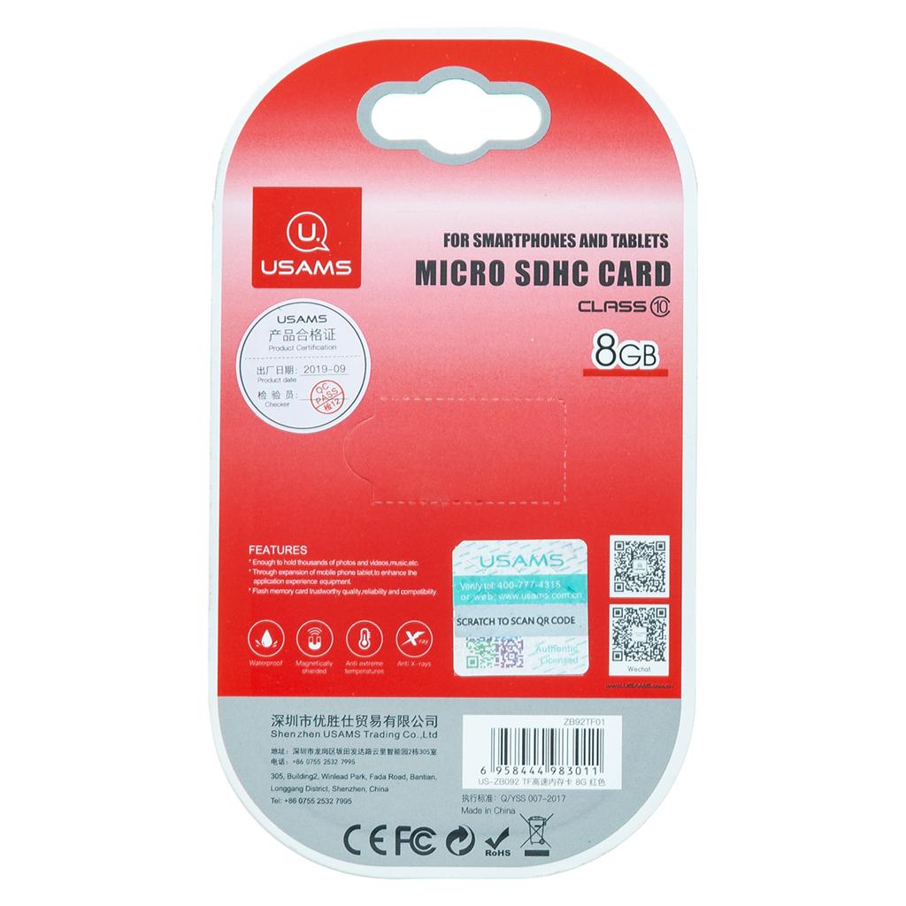 USAMS ZB092 microSDHC 8GB