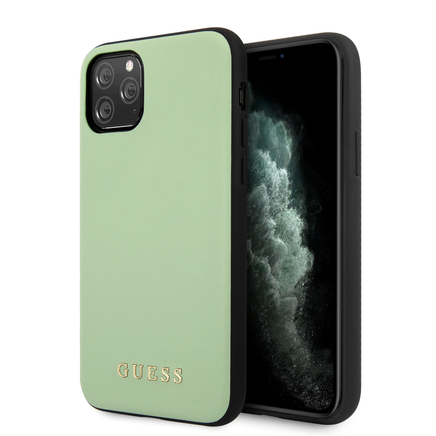GUHCN65PUMGR Guess PU Leather Zadní Kryt pro iPhone 11 Pro Max Green 3700740471975