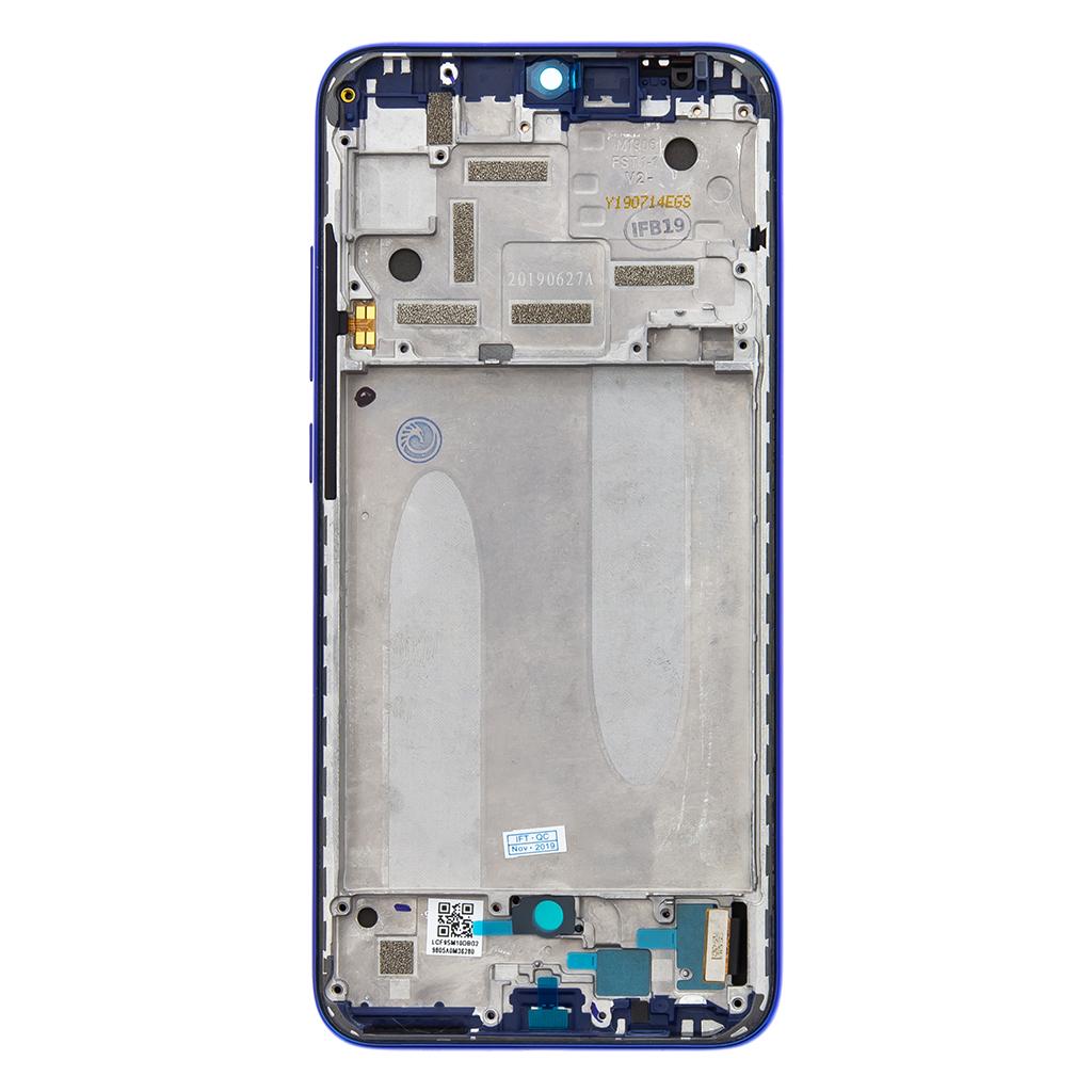 LCD Display + Dotyková Deska + Přední Kryt pro Xiaomi Mi A3 Blue