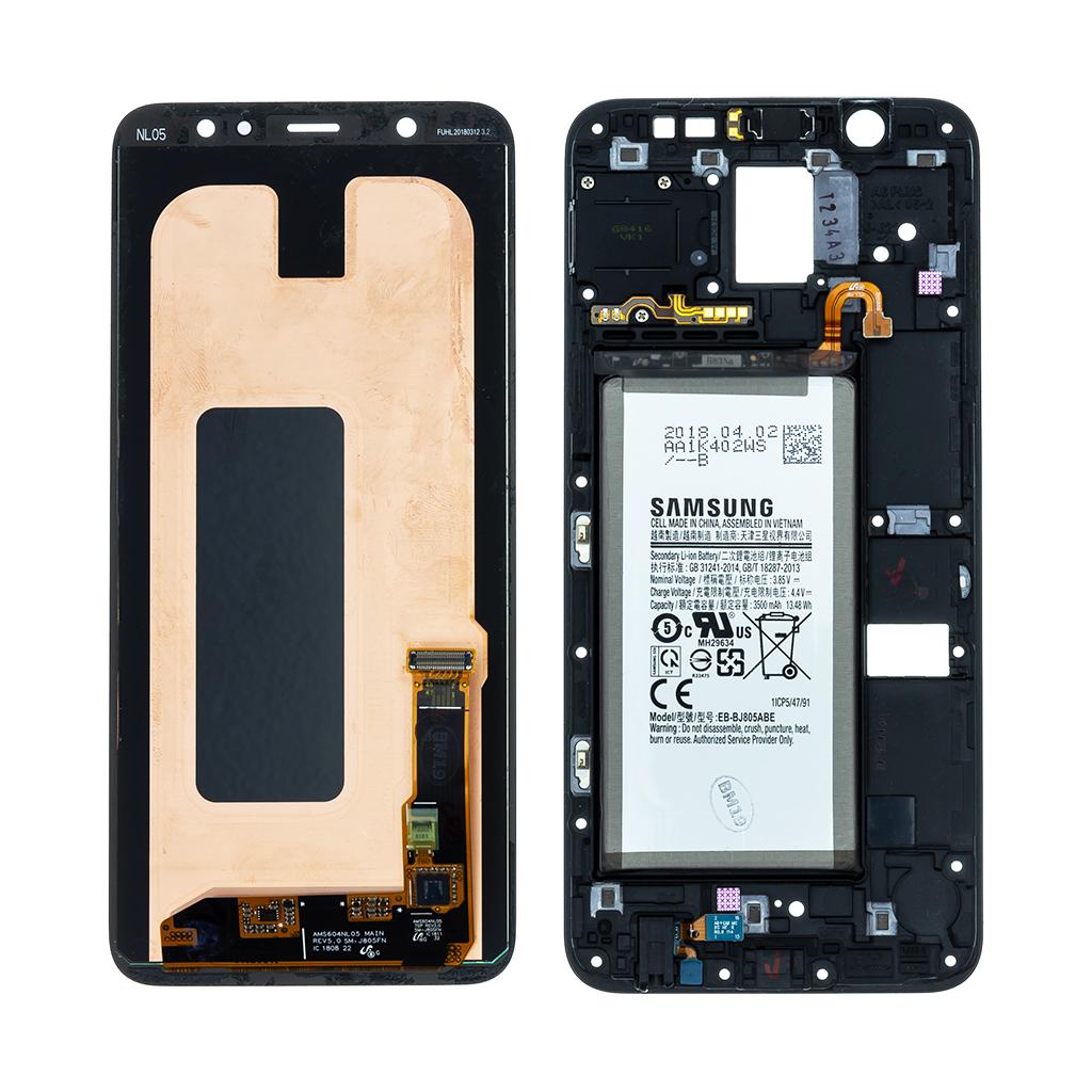 LCD display + Dotyk Samsung A605 Galaxy A6 Plus 2018 Black (New Swap Unit)