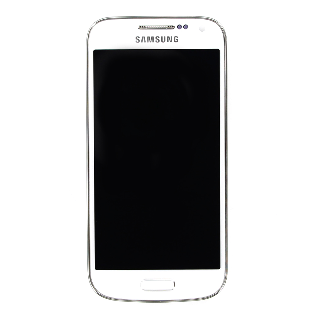 LCD display + Dotyk + Přední kryt Samsung i9195 Galaxy S4mini White (Service Pack)
