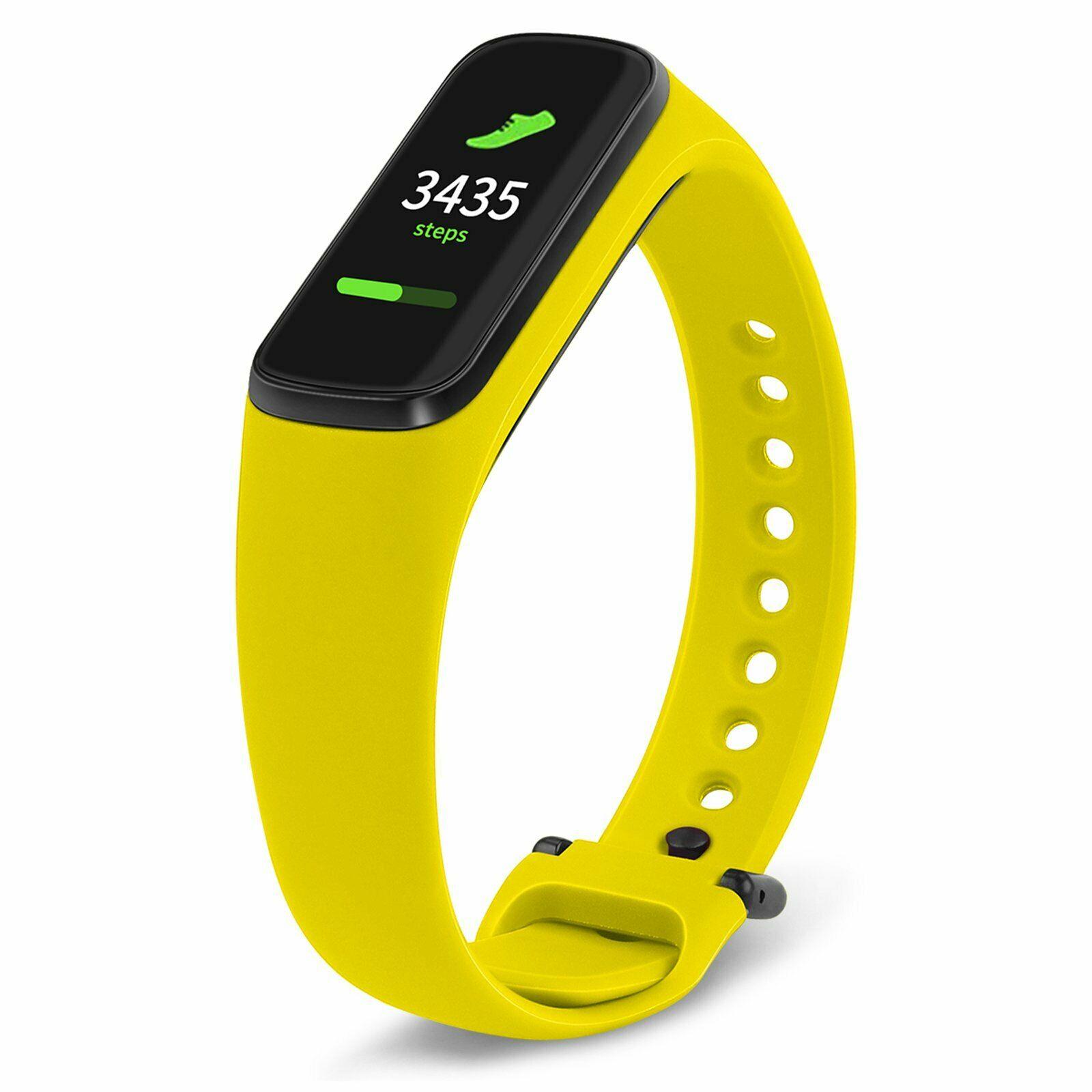 Tactical 557 Silikonový Řemínek pro Samsung Galaxy Fit e Yellow