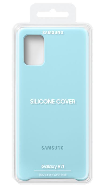 EF-PA715TLE Samsung Silikonový Kryt pro Galaxy A71 Blue 8806090268472