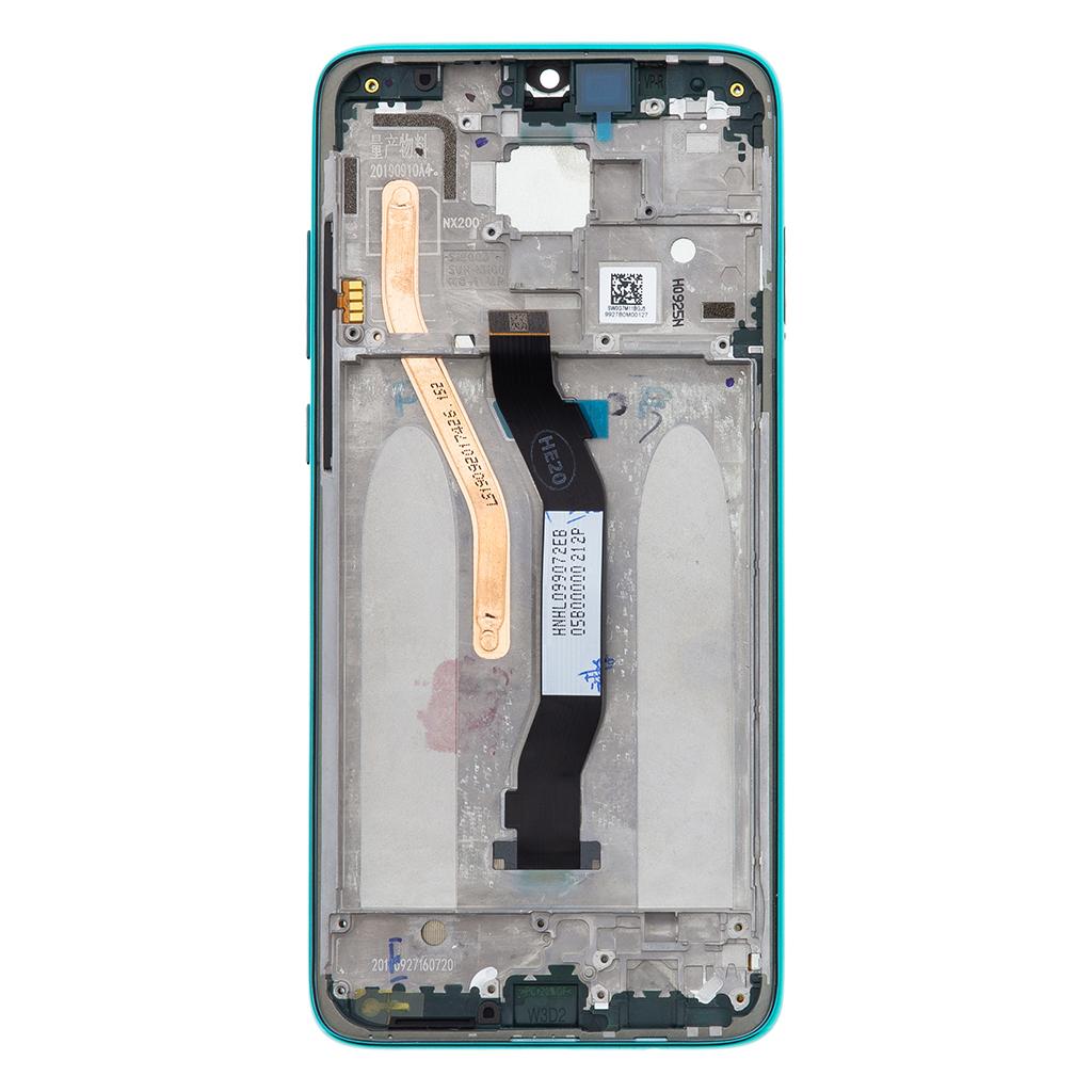 LCD Display + Dotyková Deska + Přední Kryt pro Xiaomi Redmi Note 8 Pro Green (Service Pack)