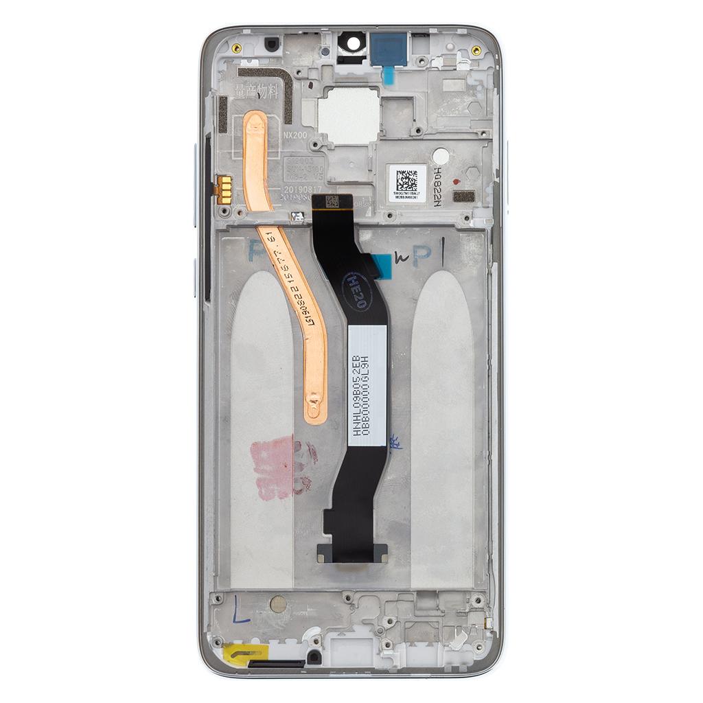 LCD Display + Dotyková Deska + Přední Kryt pro Xiaomi Redmi Note 8 Pro White (Service Pack)