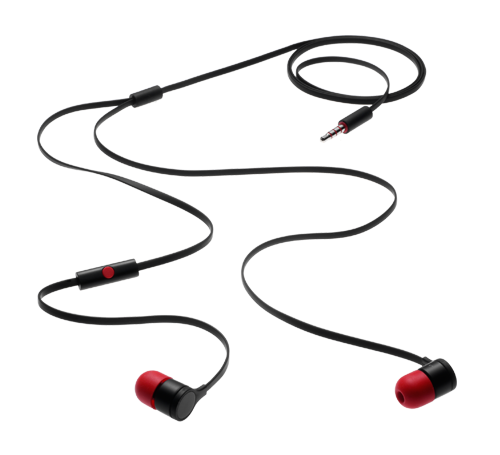 HTC RC E295 (MAX300) Stereo HF 3,5mm Black Red (Bulk)