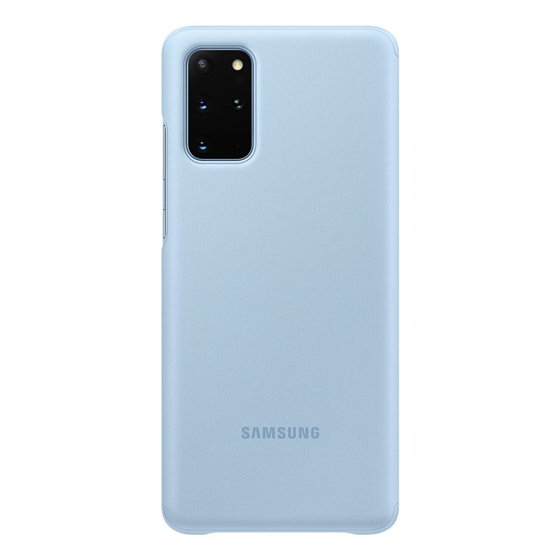 EF-ZG985CLE Samsung Clear S-View Pouzdro pro Galaxy S20+ Blue 8806090267000