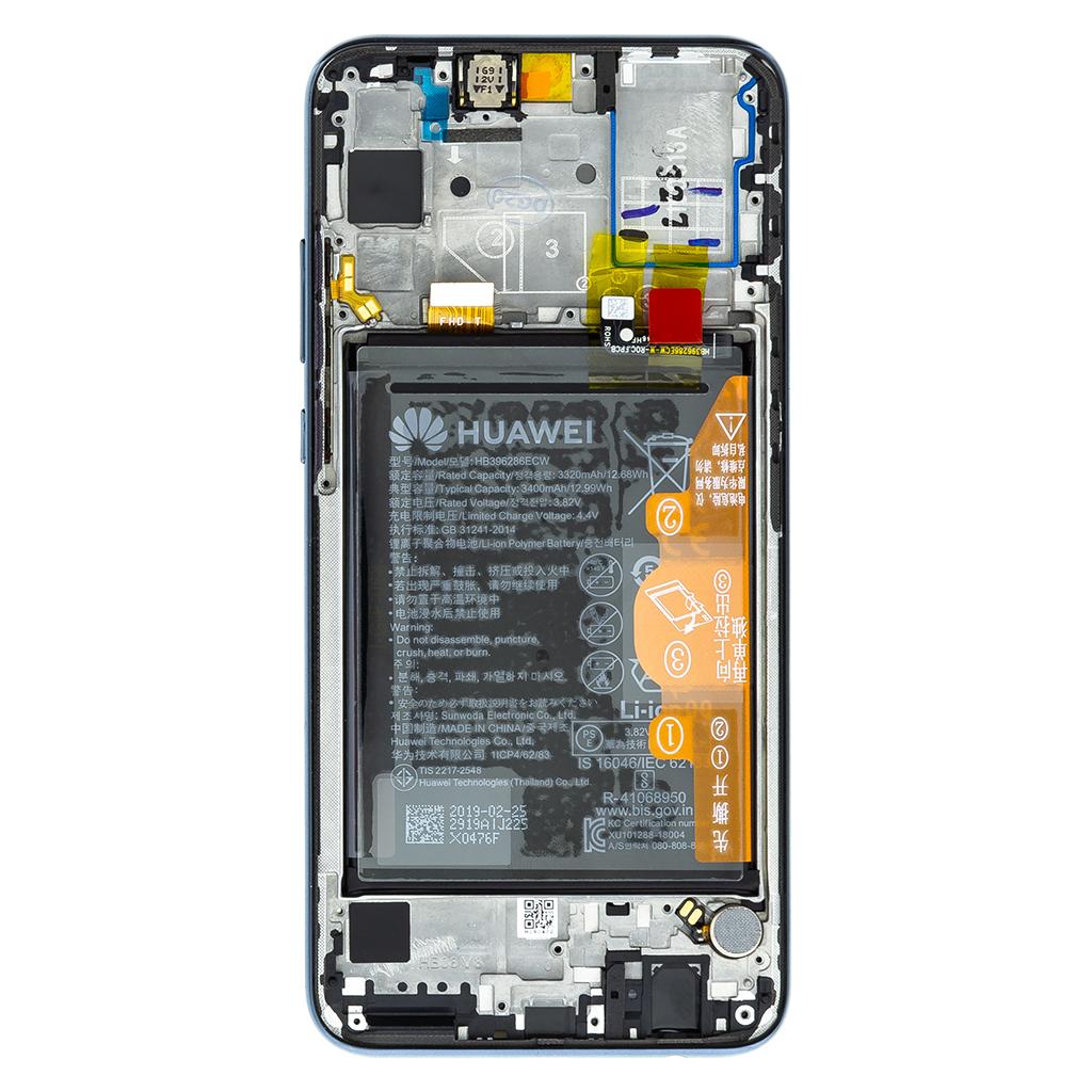 Honor 20 Lite LCD Display + Dotyková Deska + Přední Kryt Black (Service Pack)