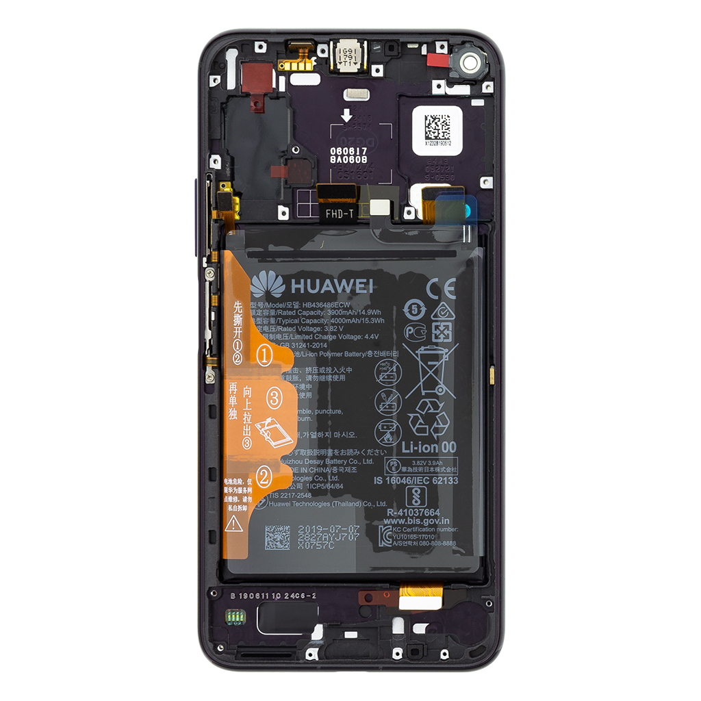 Honor 20 Pro LCD Display + Dotyková Deska + Přední Kryt Black (Service Pack)