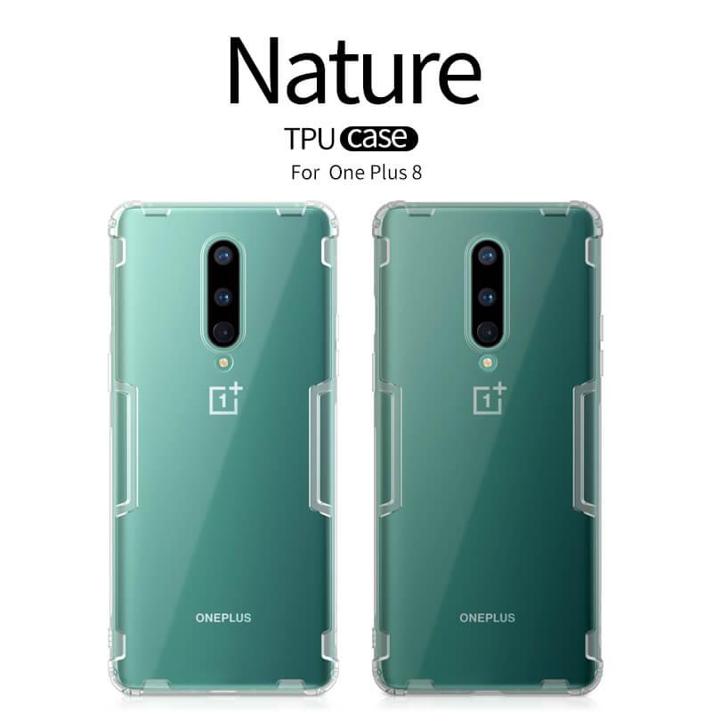 Nillkin Nature TPU Kryt pro OnePlus 8 Transparent