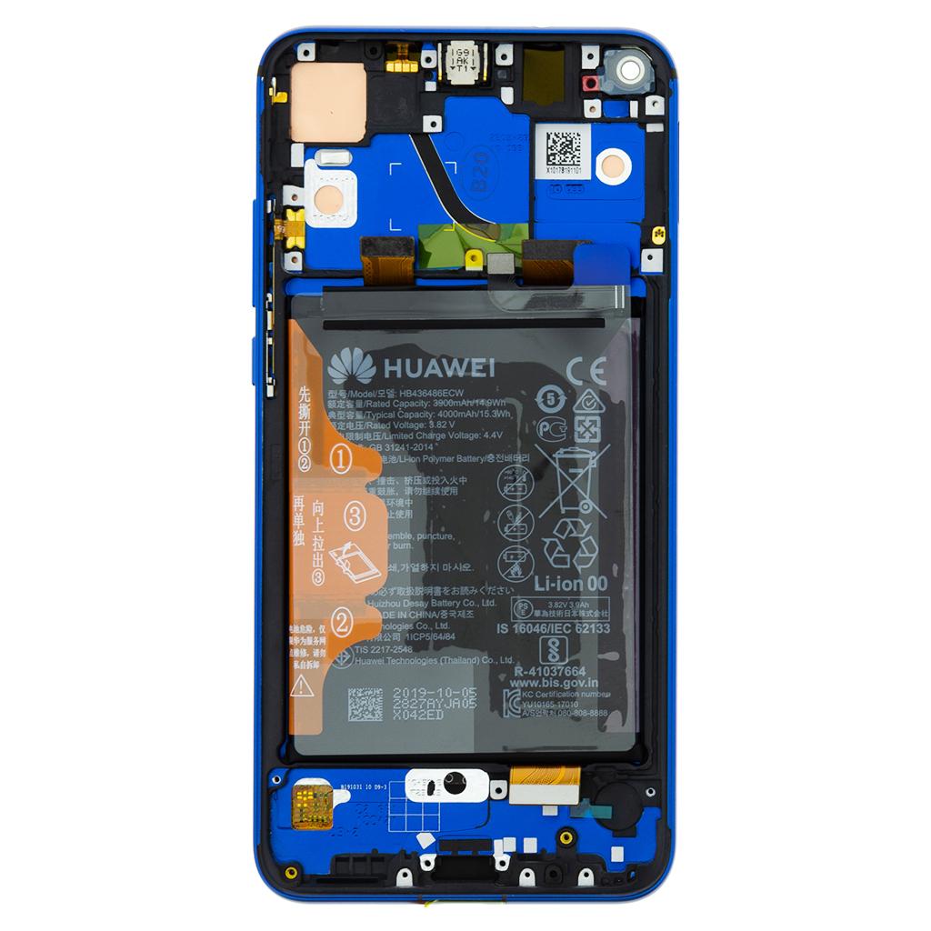 Honor View 20 LCD Display + Dotyková Deska + Přední Kryt Blue (Service Pack)