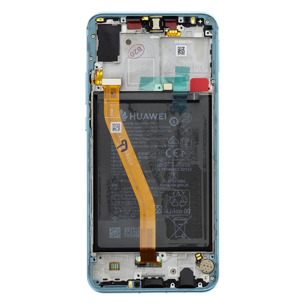 Huawei Nova 3 LCD Display + Dotyková Deska + Přední Kryt Blue (Service Pack)