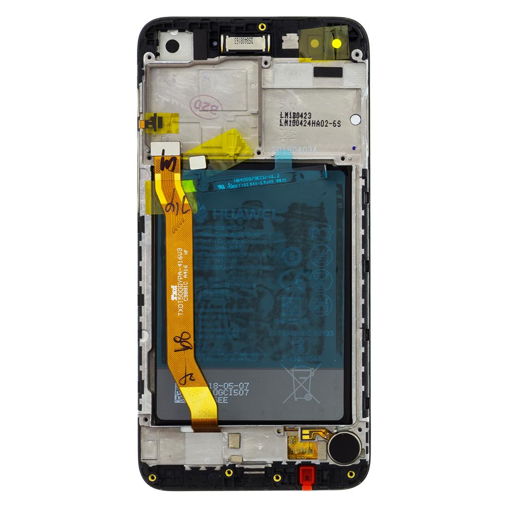 Huawei Nova Lite LCD Display + Dotyková Deska + Přední Kryt Black (Service Pack)