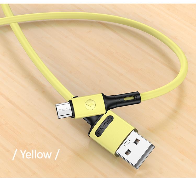 USAMS SJ435 U52 Datový a Nabíjecí Kabel Micro USB 1m Yellow