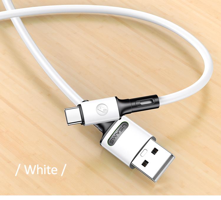 USAMS SJ436 U52 Type C Rychlý Dobíjecí/Datový Kabel 1m White