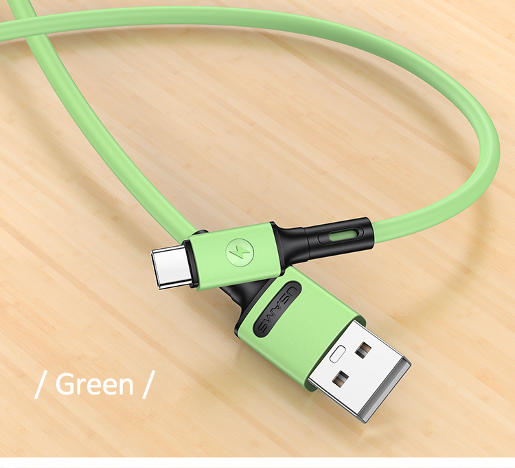 USAMS SJ436 U52 Type C Rychlý Dobíjecí/Datový Kabel 1m Green