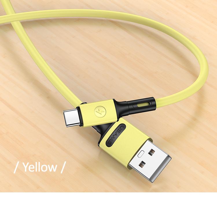 USAMS SJ436 U52 Type C Rychlý Dobíjecí/Datový Kabel 1m Yellow
