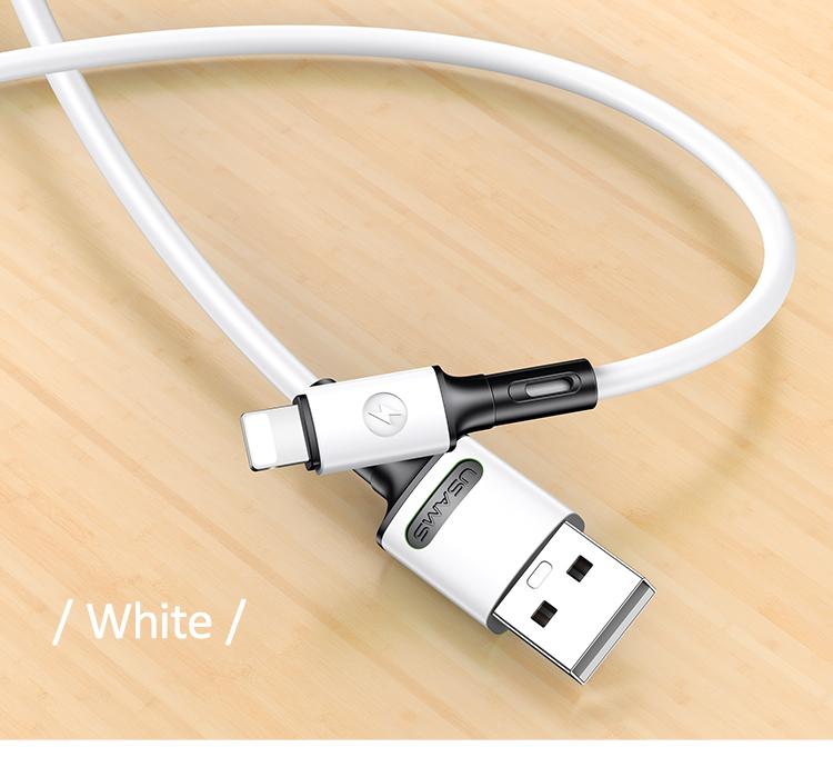 USAMS SJ434 U52 Nabíjecí a Datový Kabel Lightning 1m White