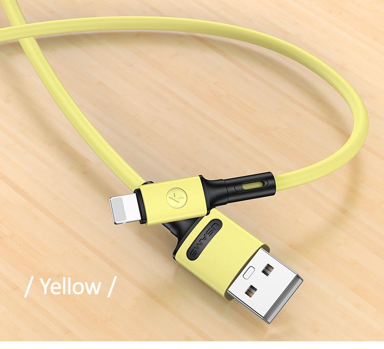 USAMS SJ434 U52 Nabíjecí a Datový Kabel Lightning 1m Yellow