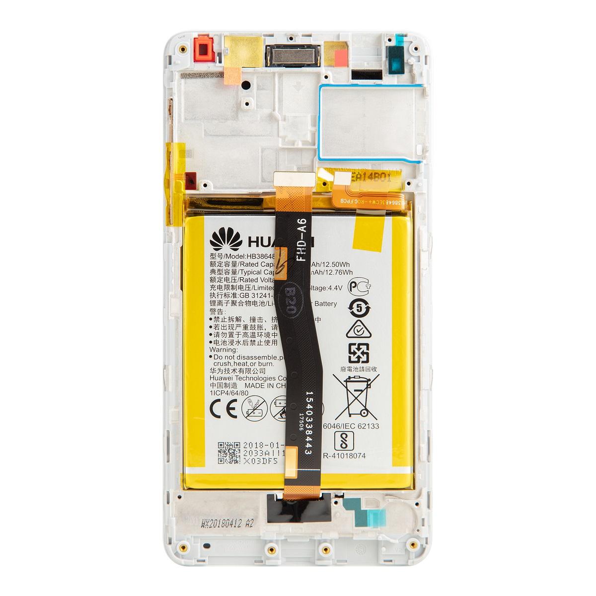 Honor 6X LCD Display + Dotyková Deska + Přední Kryt Gold (Service Pack)