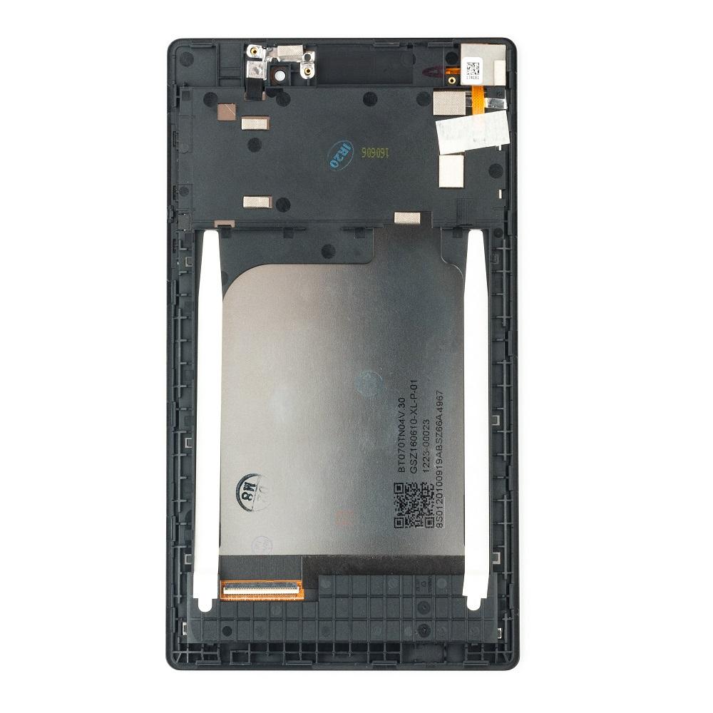 Lenovo A7-10F/A20F Tab 2 LCD Display + Dotyková Deska + Přední Kryt Black