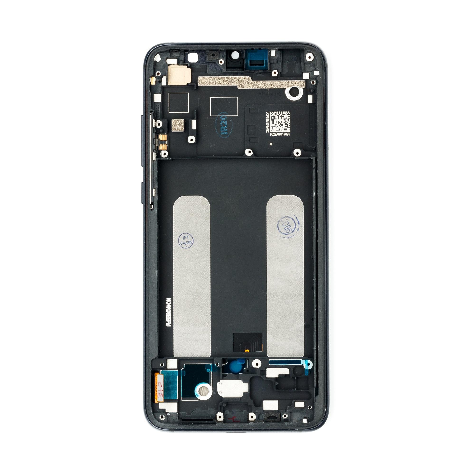 LCD Display + Dotyková Deska + Přední Kryt pro Xiaomi Mi9 Lite Black