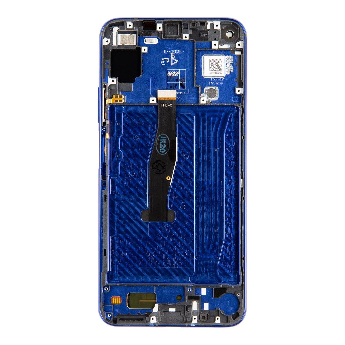 Huawei  Nova 5T LCD Display + Dotyková Deska + Přední Kryt Blue