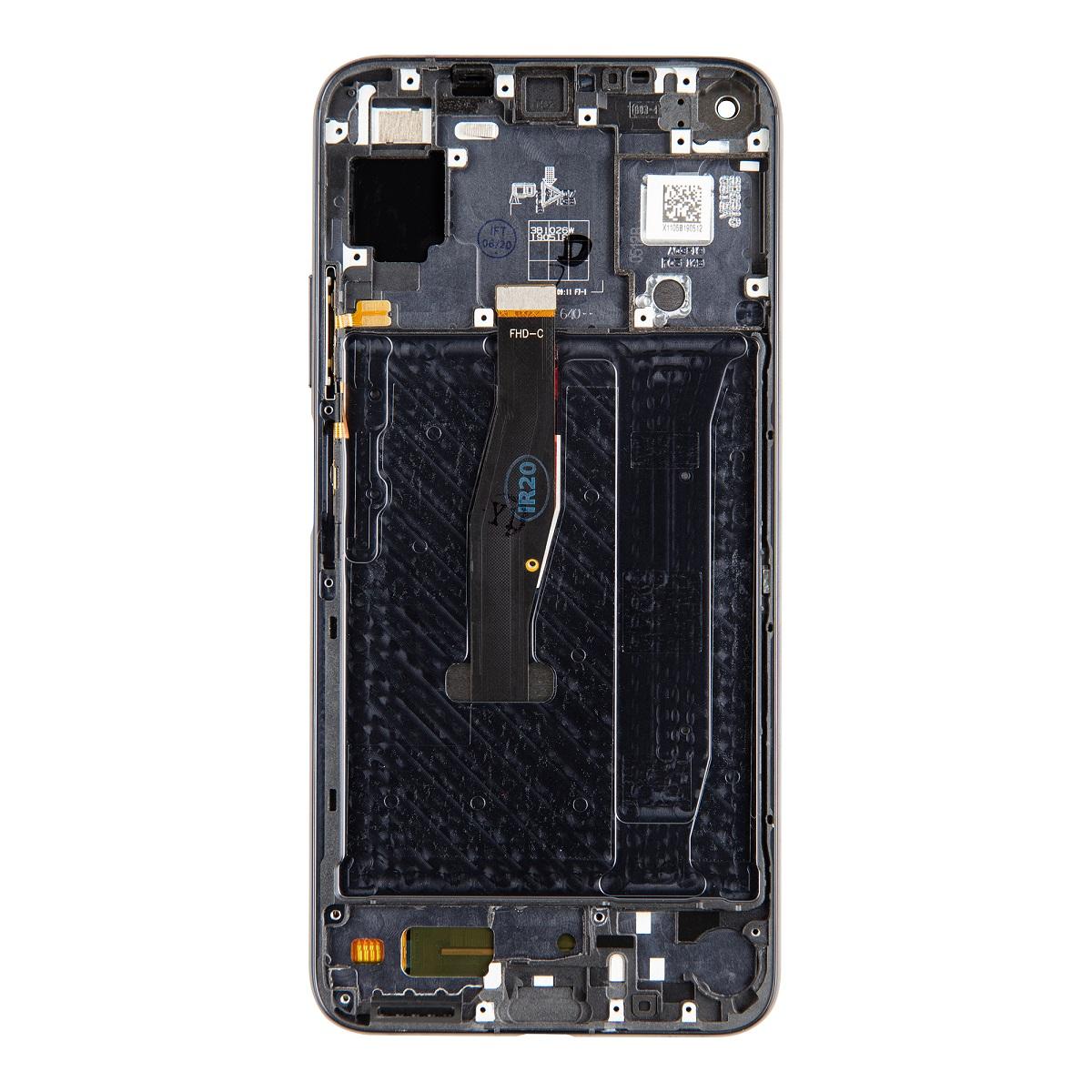 Huawei  Nova 5T LCD Display + Dotyková Deska + Přední Kryt Black