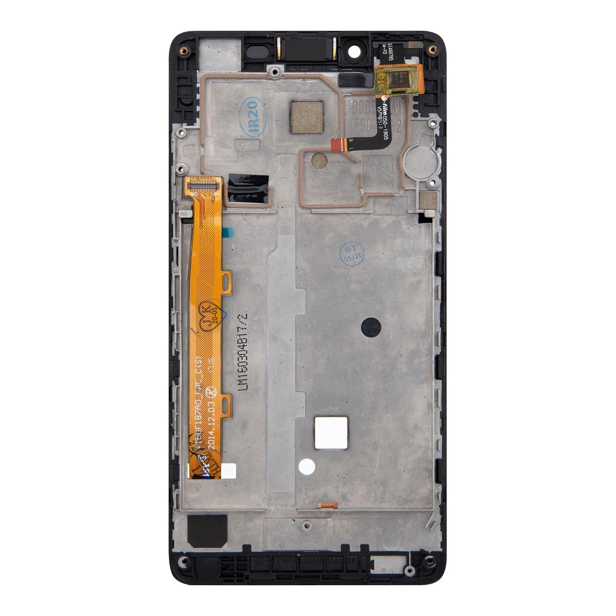 Lenovo A6000 LCD Display + Dotyková Deska + Přední kryt Black