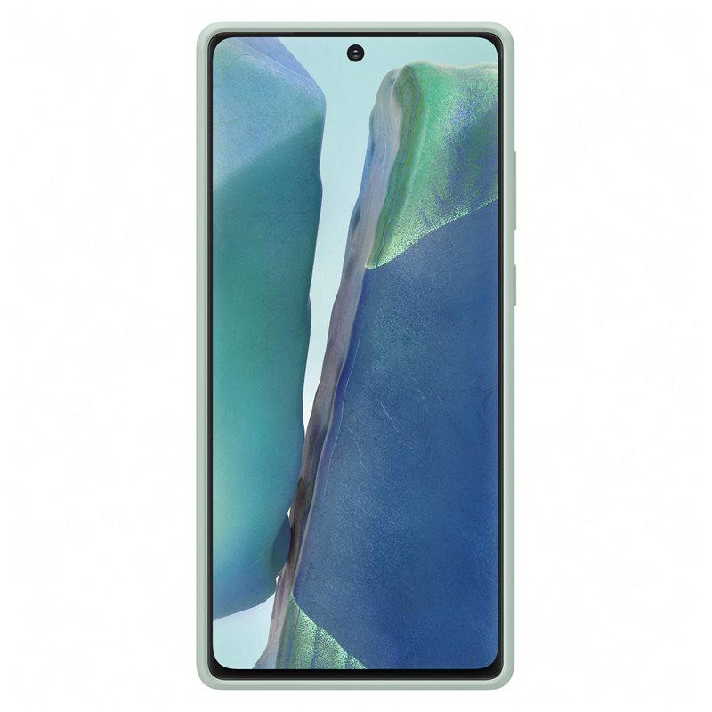 EF-PN980TME Samsung Silikonový Kryt pro N980 Galaxy Note 20 Mystic Green 8806090587290
