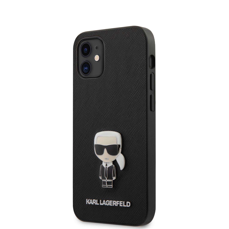 KLHCP12SIKMSBK Karl Lagerfeld Saffiano Iconic Kryt pro iPhone 12 mini 5.4 Black 3700740482261