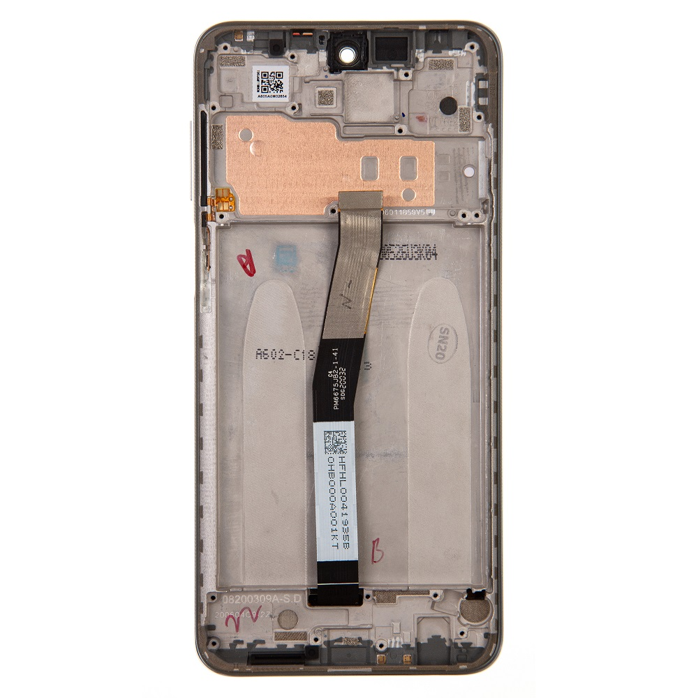 LCD Display + Dotyková Deska + Přední Kryt pro Xiaomi Redmi Note 9 Pro White (Service Pack)