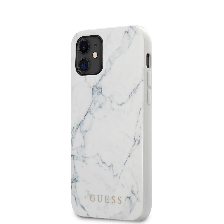 GUHCP12SPCUMAWH Guess PC/TPU Marble Zadní Kryt pro iPhone 12 mini 5.4 White 3700740481691