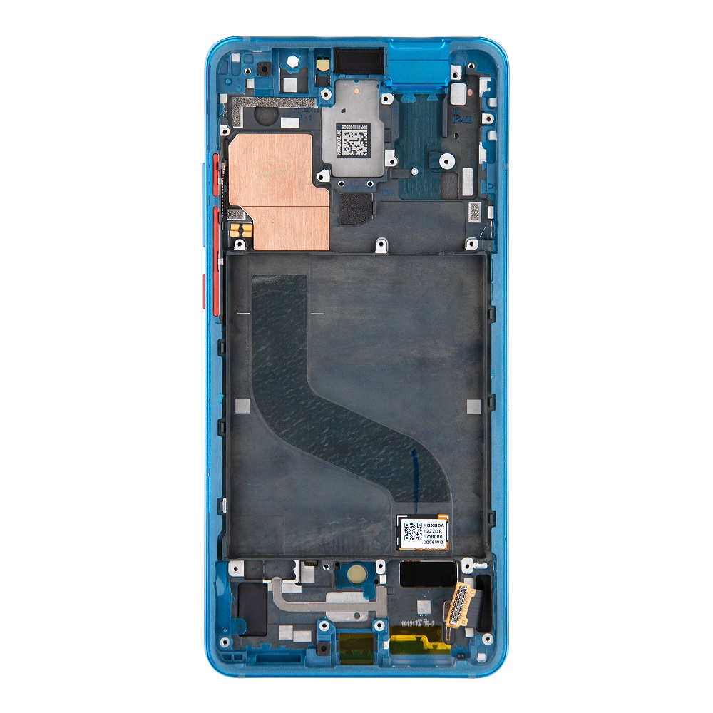 LCD Display + Dotyková Deska + Přední Kryt pro Xiaomi Mi9T Blue (Service Pack)