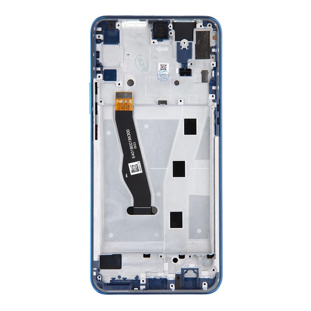 Honor 9X LCD Display + Dotyková Deska + Přední Kryt Blue