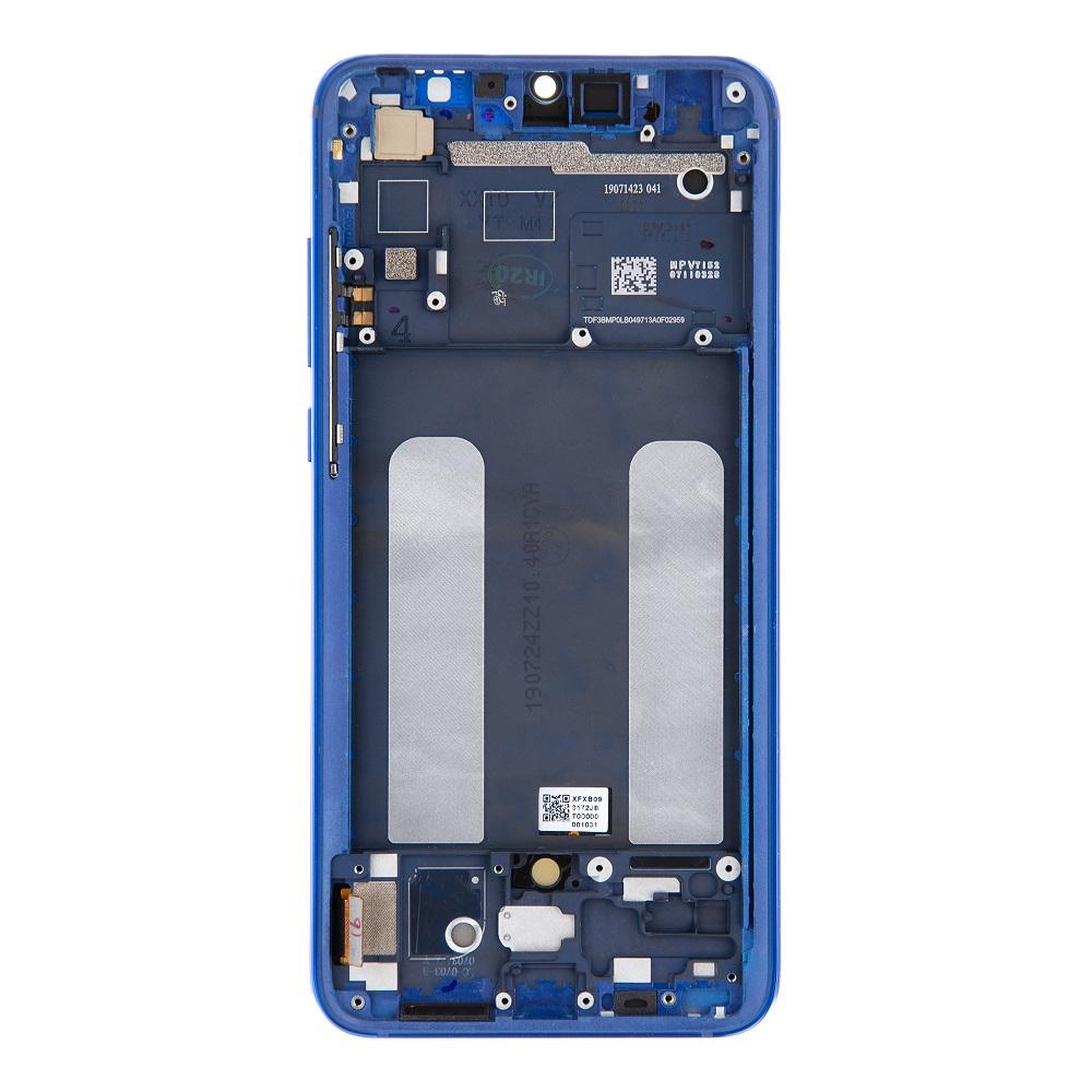 LCD Display + Dotyková Deska + Přední Kryt pro Xiaomi Mi9 Lite Blue