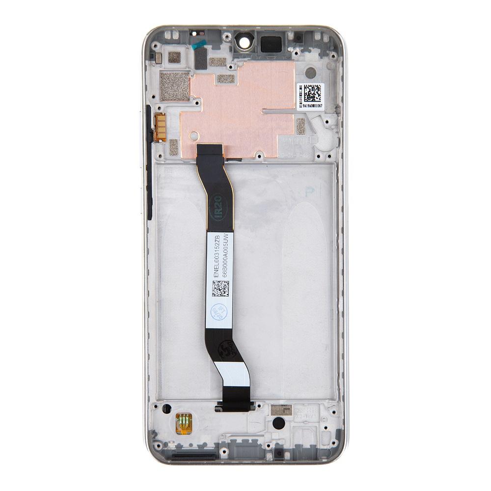 LCD Display + Dotyková Deska + Přední Kryt pro Xiaomi Redmi Note 8T White